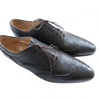 Castello D Deer Leather Lace-Up Oxfords