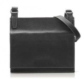 Loewe Black Grained Leather Messenger Bag