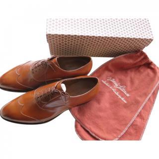 Silvano Lattanzi Tan Handmade Leather Oxfords