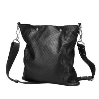 Bottega Veneta Nero Intrecciomirage Lave Cross Body Bag