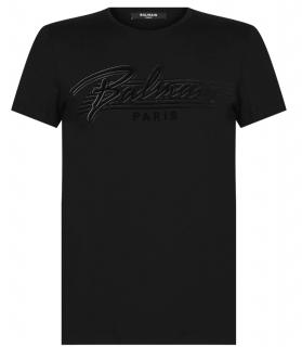 Balmain Black Signature Logo T-Shirt