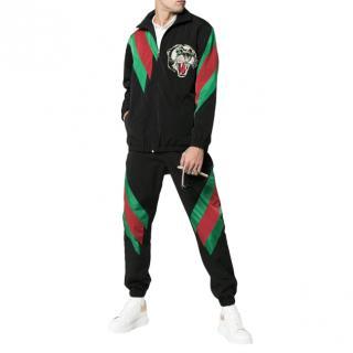 Gucci Black Tiger Web Jacket