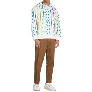 Valentino VLTN Times hooded cotton-blend sweatshirt