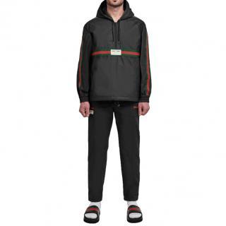 Gucci Black Half-Zip Web Jacket