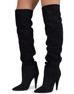 Saint Laurent Black Runway Suede Boots