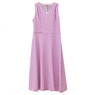 Emilia Wickstead Pink Pleat Back Dress