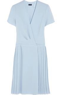 Joseph Athena Pleated Crepe Dress