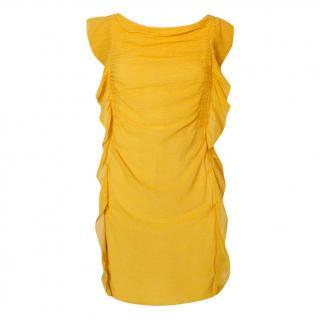 3.1 Phillip Lim Yellow Ruffled Sleeveless Dress