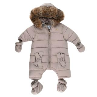 Tartine et Chocolat Rabbit Fur Trim Snowsuit