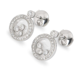 Chopard White Gold Happy Icons Diamond Earrings