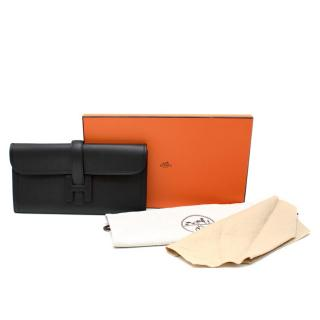 Hermes Black Swift Leather Jige Elan 29 Clutch