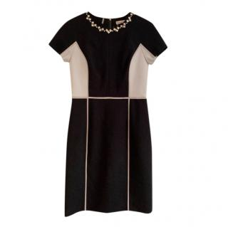 Rebecca Taylor Colourblock Embellished Dress