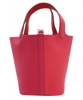 Hermes Picotin 18 PHW in Rose Extreme/Rose Mexico/Rouge De Coeur