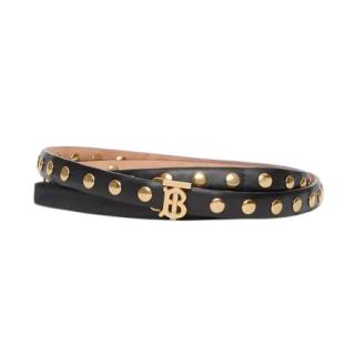 Burberry Black Studded TB Waist Belt