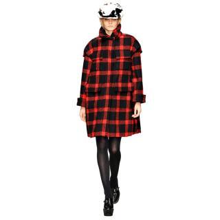 Burberry Prorsum Runway Tartan Wool Coat