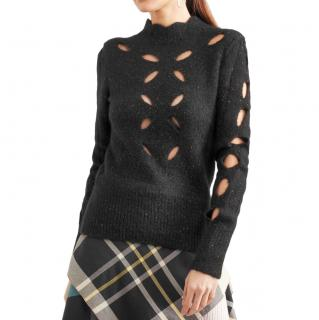 Isabel Marant Alpaca Blend Cut-Out Speckled Jumper