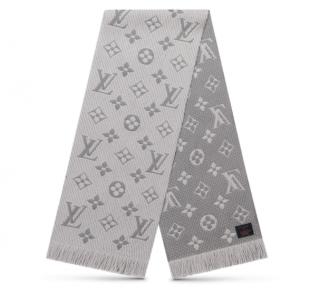 Louis Vuitton Grey Logomania Shine Shawl