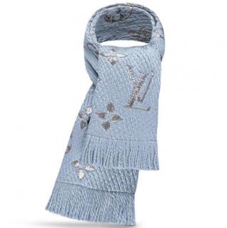 Louis Vuitton Blue Logomania Scarf
