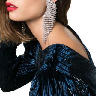 Alessandra Rich cascade crystal clip earrings