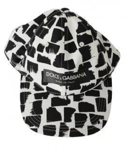 Dolce & Gabbana Black & White Printed Cap
