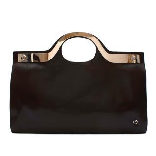 Loewe Brown Leather & Metal Vintage Top Handle Bag