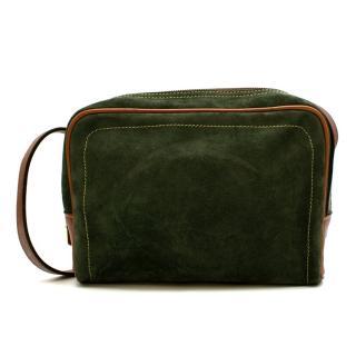 Loewe Green Suede Vintage Shoulder Bag