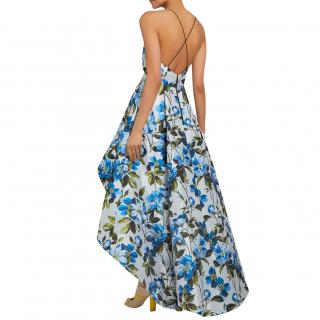 Alice+Olivia Blue Floral Joss Gown