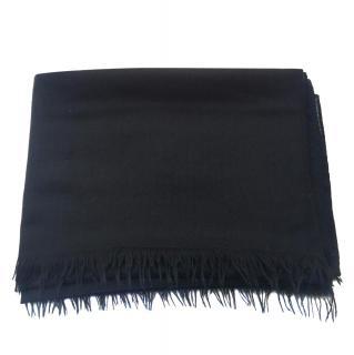 Hermes Cashmere & Wool Black Stole
