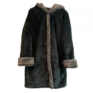 Dennis Basso Grey Suede Coat