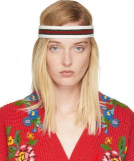Gucci runway Tri-Colour Web Stripe Headband