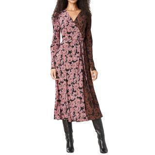 DVF Tilly Silk Crepe de Chine Wrap Dress