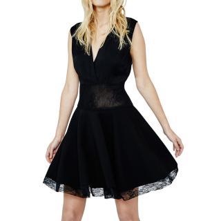 Maje Lace Detailed Giratoire Skater Dress