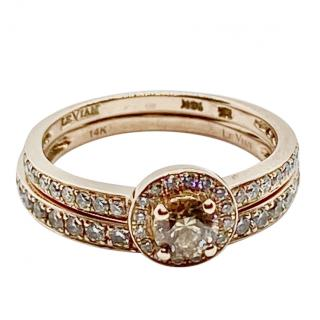 Le Vian 14ct Rose Gold Diamond Ring & Diamond Band