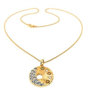 Bespoke 18ct Yellow Gold Diamond Talisman Pendant Necklace