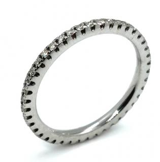 Bespoke 18ct White Gold Full Diamond Eternity Ring