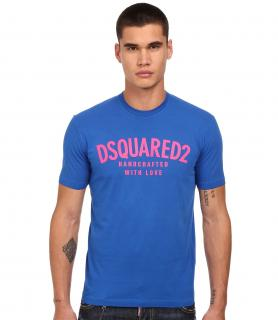 DSquared  Blue Handcrafted With Love T-shirt
