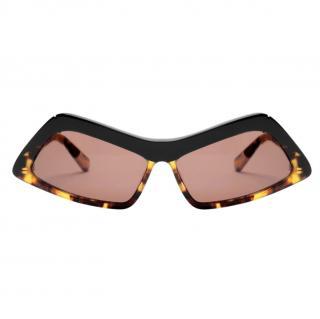 Stella McCartney Havana oversized-rectangular frame sunglasses