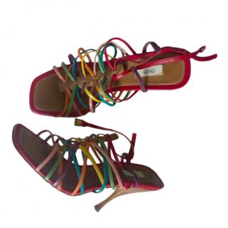 Prada Multicoloured Strappy Sandals