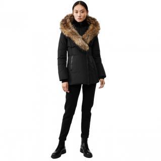 Mackage Black Adali Fur Trimmed Coat