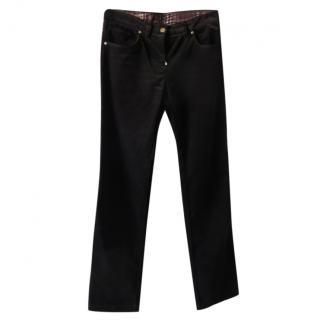 Zilli Black Velvet Pants