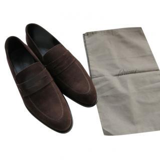 Brioni Handmade Brown Mens Loafers