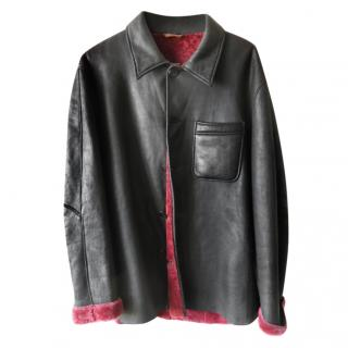 Seraphin Black Shearling Lined Coat
