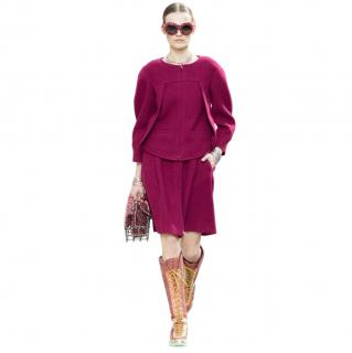 Chanel Supermarket Collection Burgundy Tweed Suit