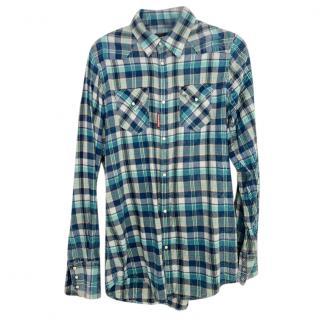 DSquared2 Blue Plaid Shirt