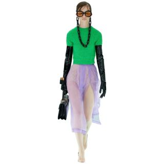 Gucci Runway Green Cropped Short Sleeve Top