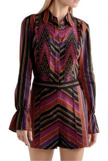 DVF Printed Wool & Silk Ariella Playsuit