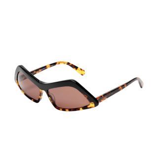 Stella McCartney Rectangular Cat-Eye Havana Sunglasses