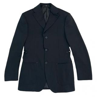 Gianfranco Ferre Black Wool Tailored Jacket