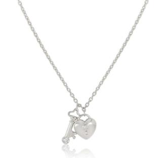 Tiffany & Co. Platinum Diamond Key & Lock Pendant