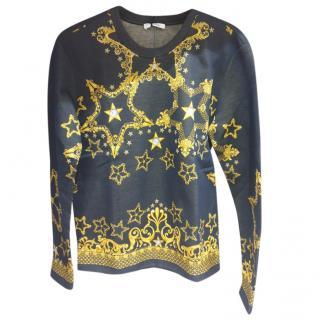 Versace Black/Gold Baroque Print Sweatshirt